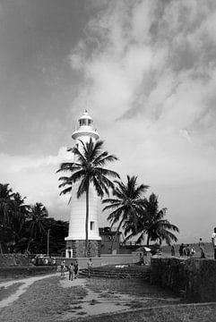 Leuchtturm in Galle, Sri Lanka von Bente van Maris