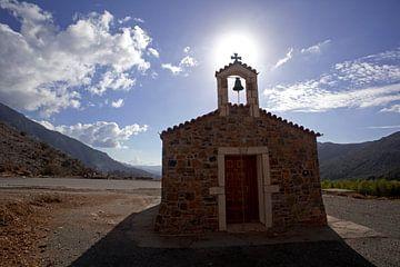 Een kleine kapel op het Griekse eiland Kreta van Coos Photography