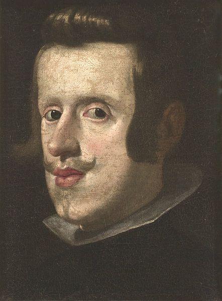 Porträt von Philipp IV., Francisco de Zurbarán von Meesterlijcke Meesters