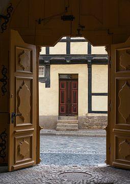 doorkijk van binnen naar buiten in duitsland van Compuinfoto .