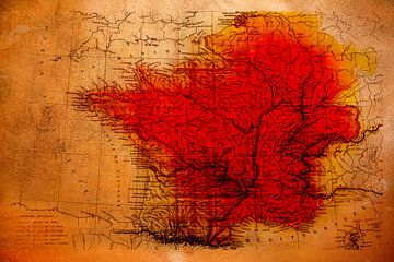 Frankreich in Rot von Veerle Van den Langenbergh