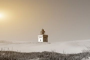 Leuchtturm Rubjerg Knude in Dänemark von Frank Grässel