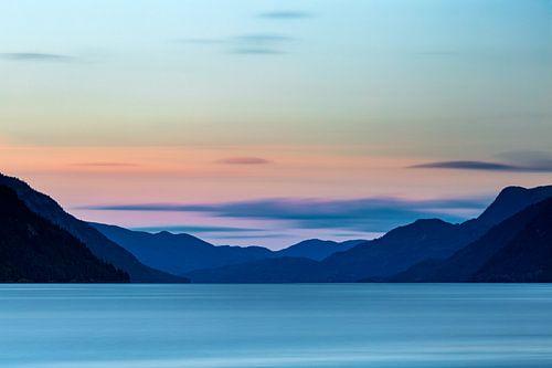 Noorwegen, Tinnsjå meer (Telemark) van Ton Drijfhamer