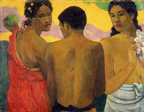 Paul Gauguin. Three Tahitians van 1000 Schilderijen