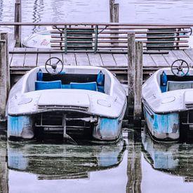 Tretboote auf der Alster von Heiko Westphalen