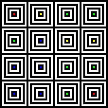 Nested | Center | 04x04 | N=04 | Random #01 | RGBY van Gerhard Haberern