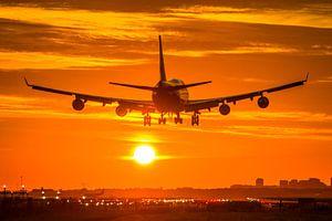 Martinair Boeing 747 landt op Schiphol