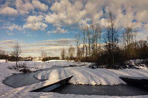 Een heldere ochtend met sneeuw van
