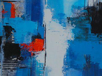 Rood in blauw van Claudia Neubauer