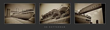 Drieluik van de SS Rotterdam van Eddy Westdijk