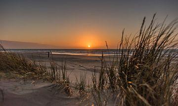 Zonsondergang op het Strand van Alex Hiemstra