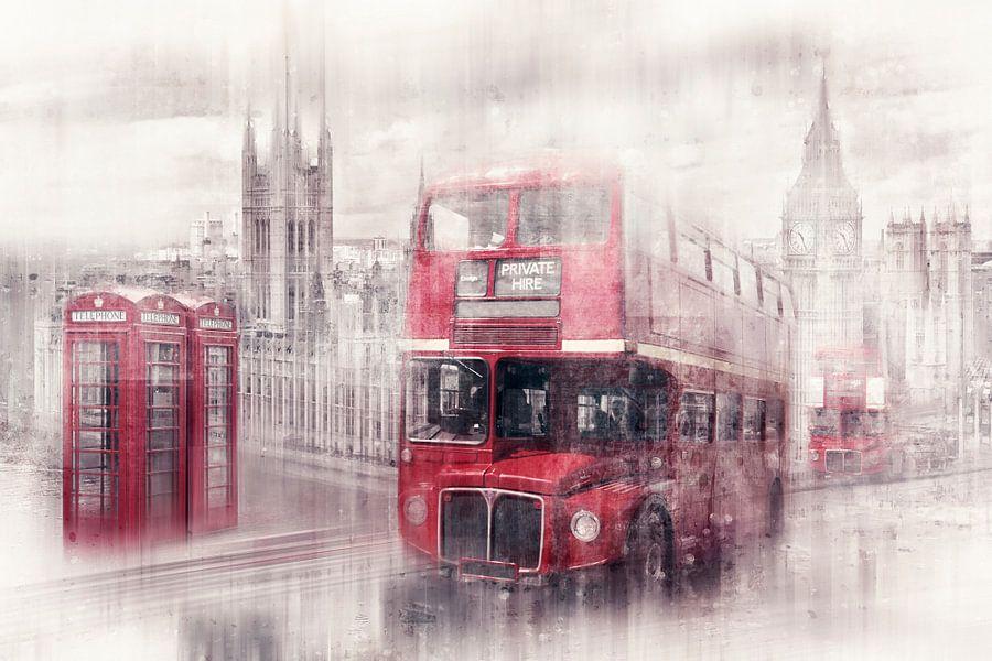 City-Art LONDON Westminster Collage van Melanie Viola
