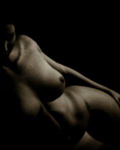 Naakte vrouw – Studie van Veerle naakt liggend