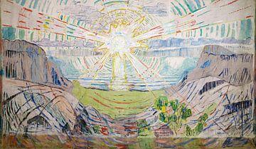 Edvard Munch, De Zon, 1910-1911 van Atelier Liesjes