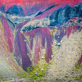 Lava op IJsland in close-up van Chris Stenger