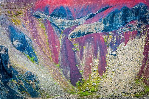 Lava op IJsland in close-up van