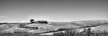 Toscane in zwart-wit van