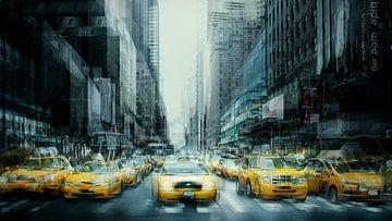 New York Art Yellow Cabs van Gerald Emming