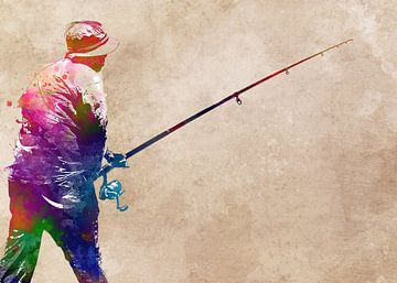 Angeln 2 sport art #fishing von JBJart Justyna Jaszke