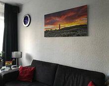 Klantfoto: Vuurtoren van Texel tijdens een schitterende zonsondergang / Texel Lighthouse during a stunning suns van Justin Sinner Pictures ( Fotograaf op Texel), op xpozer
