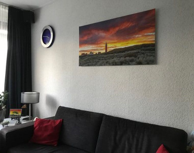 Kundenfoto: Leuchtturm von Texel im Sonnenuntergangs von Justin Sinner Pictures ( Fotograaf op Texel), auf xpozer