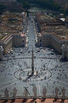 Vue de la basilique Saint-Pierre sur Rome sur Karel Ham