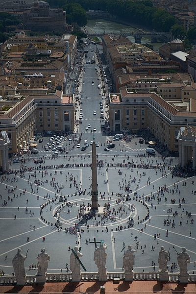 Uitzicht vanaf Sint Pieter over Rome van Karel Ham