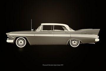 Plymouth Belvedere Sport Schwarz und Weiß von Jan Keteleer