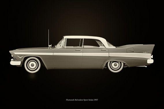 Plymouth Belvedere Sport Zwart en Wit
