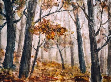 Herfstbos van Christine Nöhmeier
