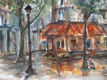 Regen in Paris. von Ineke de Rijk