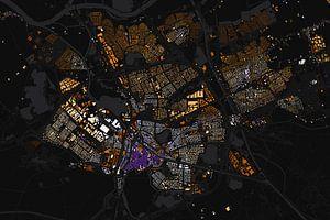 Kaart van Den Bosch abstract