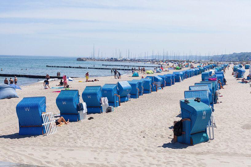 Plage avec chaises de plage, Kühlungsborn, Mecklembourg-Poméranie occidentale, Allemagne, Europe sur Torsten Krüger