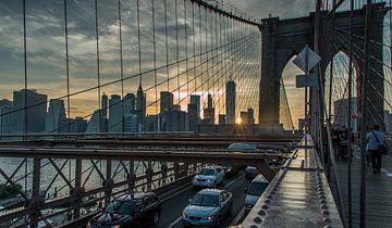 Manhattan Sunset van Bart van der Horst