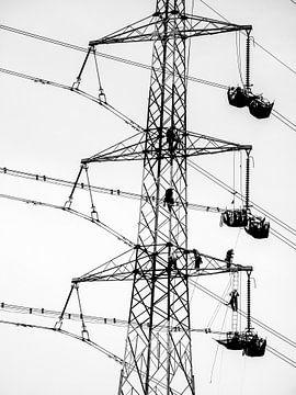 Hoogspanning infrastructuur werken van Lieven Tomme