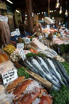 Vismarkt in Londen van Bente van Maris