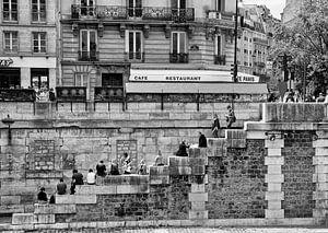 Parijs - Trappenterras aan de oevers van de Seine
