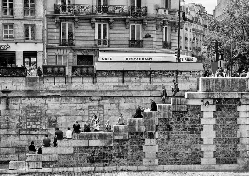 Parijs - Trappenterras aan de oevers van de Seine van Jan Sportel Photography