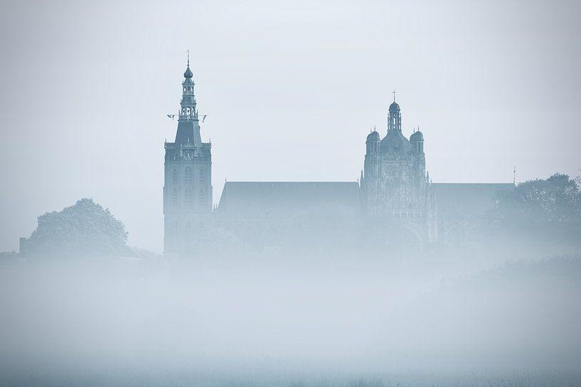 De Sint Jan van Den Bosch ontwaakt - zwart/wit van Jasper van de Gein Photography