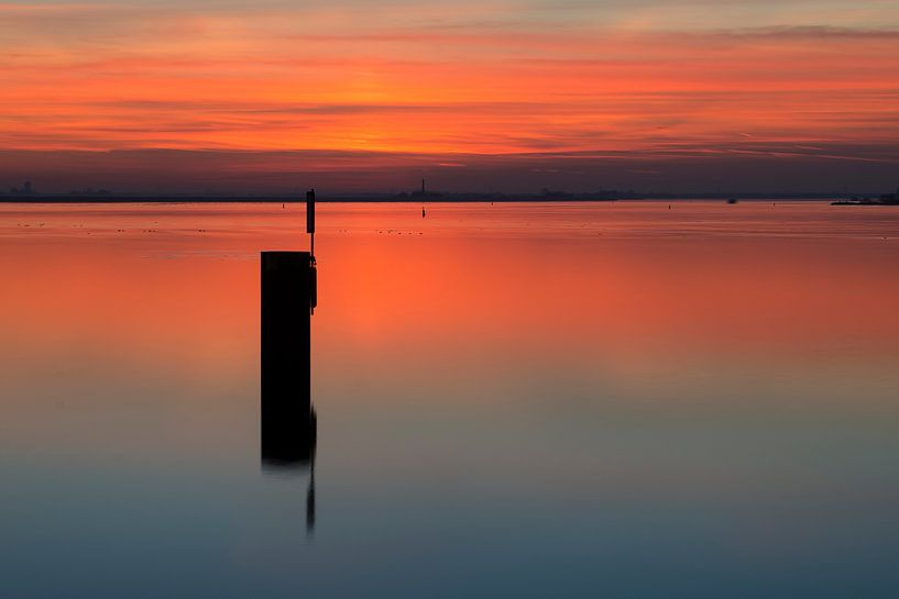 Net na zonsondergang van Hans Kerchman