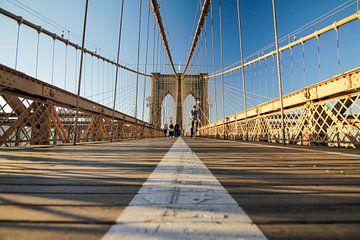 Quiet on the Brooklyn Bridge von Fabian Bosman