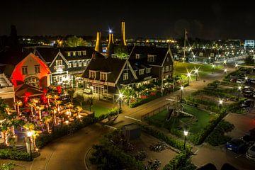 Nautish Kwartier in Huizen (birdview) von Vincent Snoek