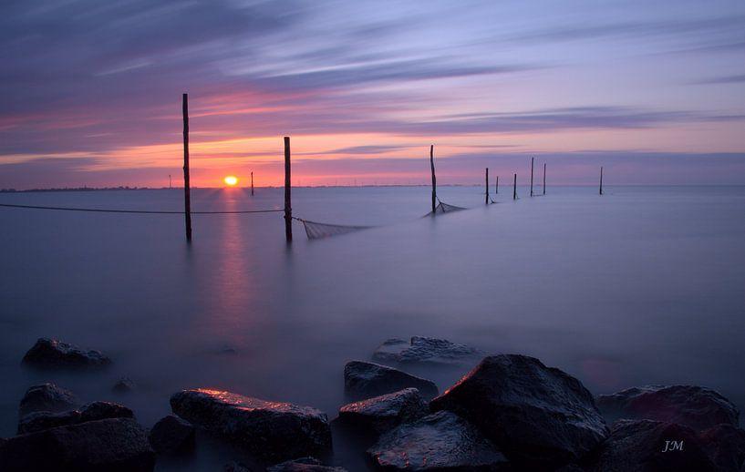 Hometown sunset van Jan Mulder Photography