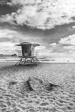 KALIFORNIEN Imperial Beach | Monochrom von Melanie Viola