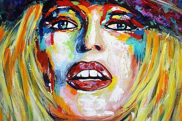 "Brigitte Bardot ""Ogen"" van Kathleen Artist van Kathleen Artist Fine Art"