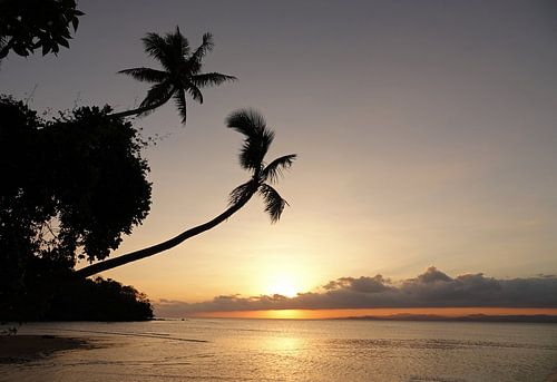 Zonsondergang op Beqa eiland in Fiji van