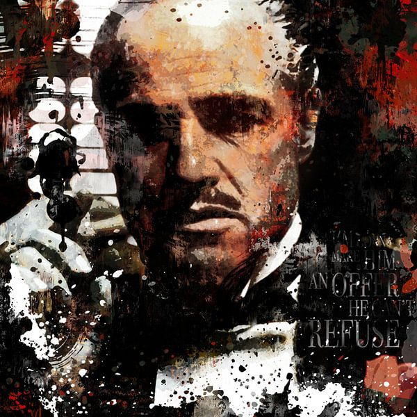 Malerei Godfather Malerei Pop Art Marlon Brando Pop-Art von Kunst Company