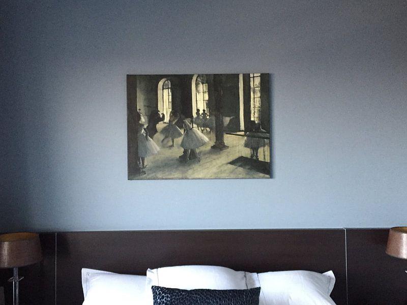 Klantfoto: Repetitie in de Dansfoyer, Edgar Degas van Meesterlijcke Meesters, op canvas