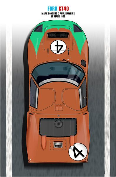 Ford GT40, Mark  Donohue von Theodor Decker