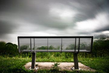 Bankje Zoetermeer. Bench stormy weather